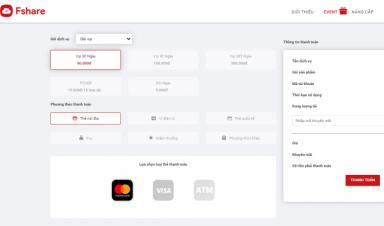 Tất tần tật các cổng thanh toán gói VIP Fshare từ nội địa đến quốc tế siêu tiện lợi cho người dùng